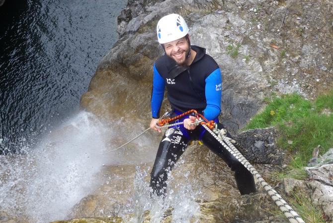 Canyoning Fortgeschritten Lechtal Tirol