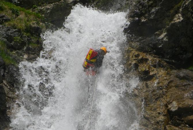 Canyoning Extrem lechtal tirol