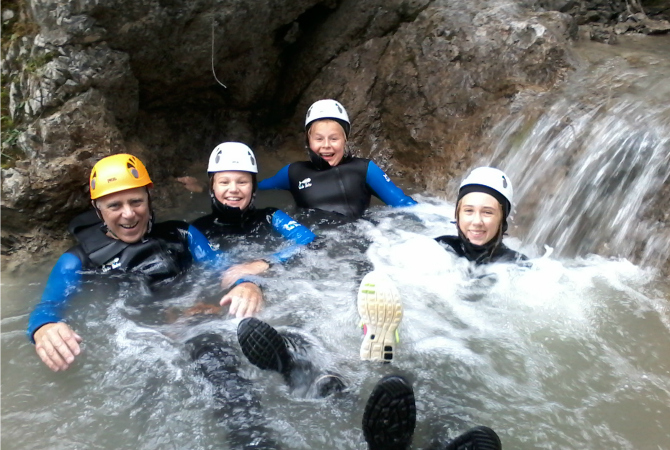 Canyoning Familie Lechtal