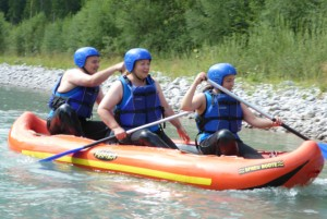 Canadier Rafting Lech Tirol