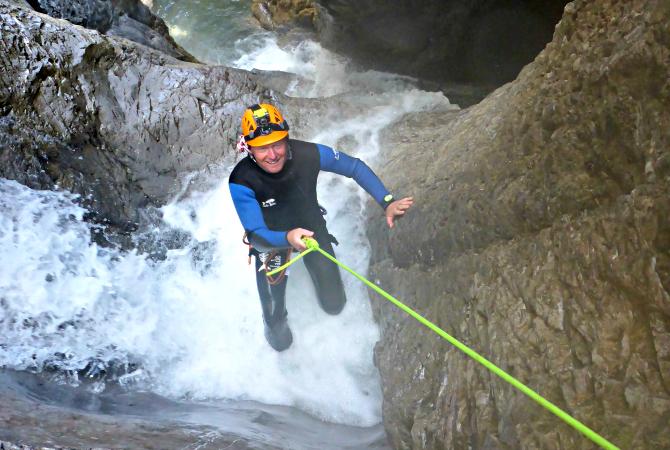 Canyoning Einsteiger Lechtal Tirol