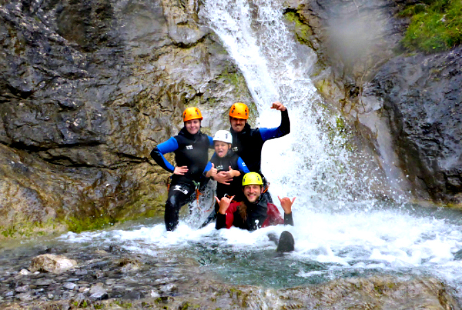 Familie Canyoning tour Lechtal