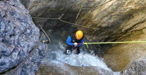 passiv abseilen beim Canyoning im Lechtal